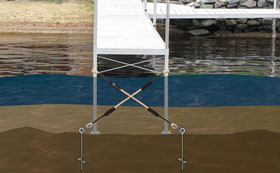 Floating Docks and Stabilizing Piers