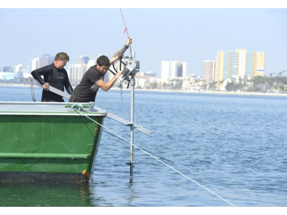 Installing the Eco-Mooring System at Long Beach's Belmont Pier